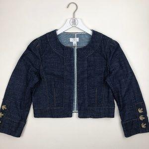 Ann Taylor Loft Open Front Cropped Jacket